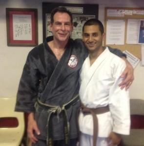 Sensei and Eluis after his last class, June 2013!