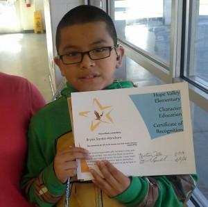 Bryan with his award!