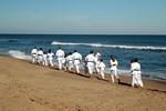 Training on the beach!