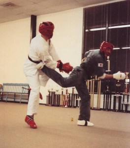 Sparring with Todd, 1989!